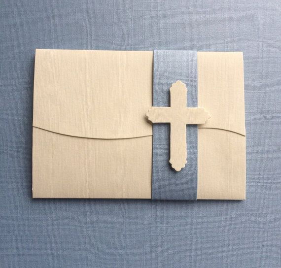 boys' communion cross embellished invitations by ttulipgreetings