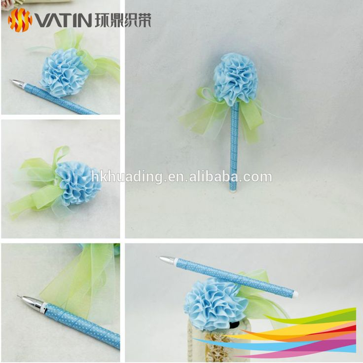 Supplies Plastic Material Gifts Promotional Pens with Ribbon Back to School