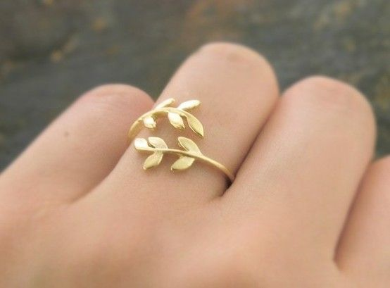 .: Leaf Rings, Cute Rings, Delicate Rings, Fashion Design, Greek Rings, Branches Rings, Gold Rings, Olives Branches, Jewelry Rings