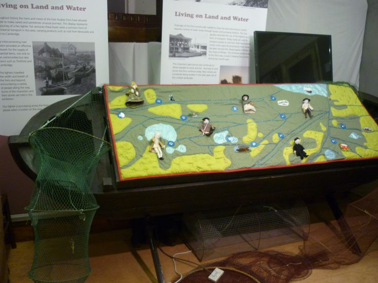 "Fenland Lives and Land  ""Living on Land and Water"" travelling exhibition, in situ at Whittlesey Museum."