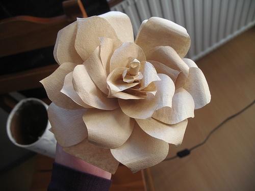 A Coffee Filter RoseVintage Wedding, Fresh Flowers, Diy