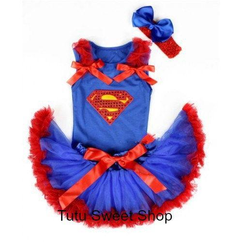 Superman Tutu Onesie  Supergirl Superman Infant by TutuSweetShop