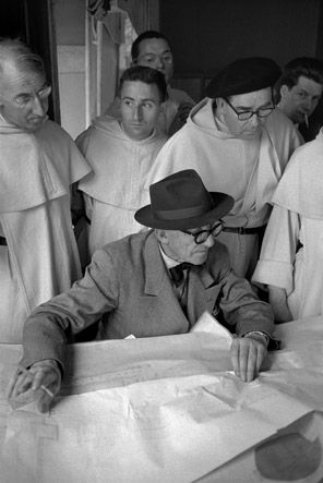 Photo of Le Corbusier by Rene Burri