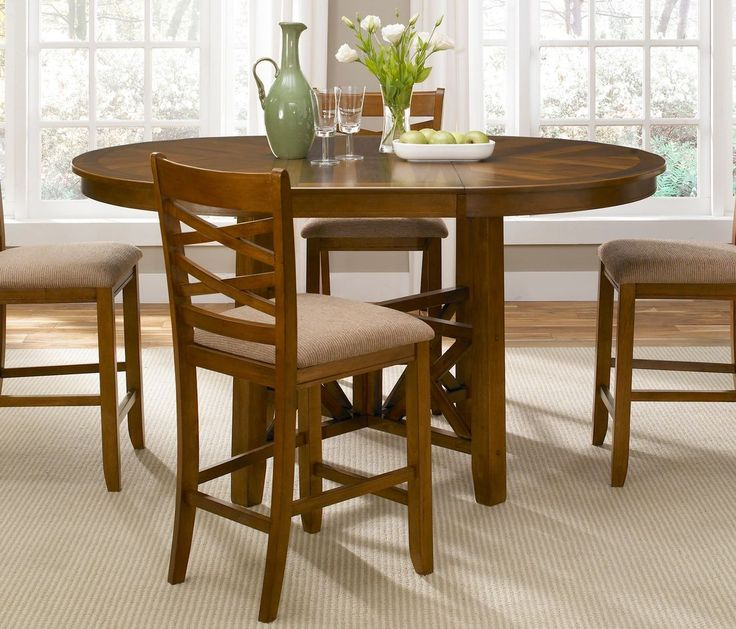 Liberty Furniture Bistro Gathering Table Features Casual Dining Style Transitional Wood Rubberwood