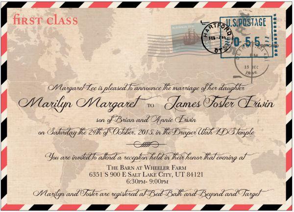 11 best Vintage Wedding Invitations images on Pinterest Retro - best of invitation maker for wedding
