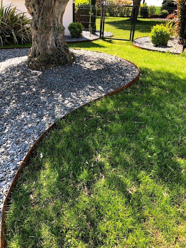 Bordure De Jardin En Acier Corten Durables Et Esthetiques Bordure Jardin Bordure Jardin Metal Bordure De Jardin Beton