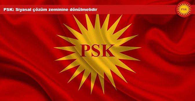 PSK: Siyasal çözüm zeminine dönülmelidir