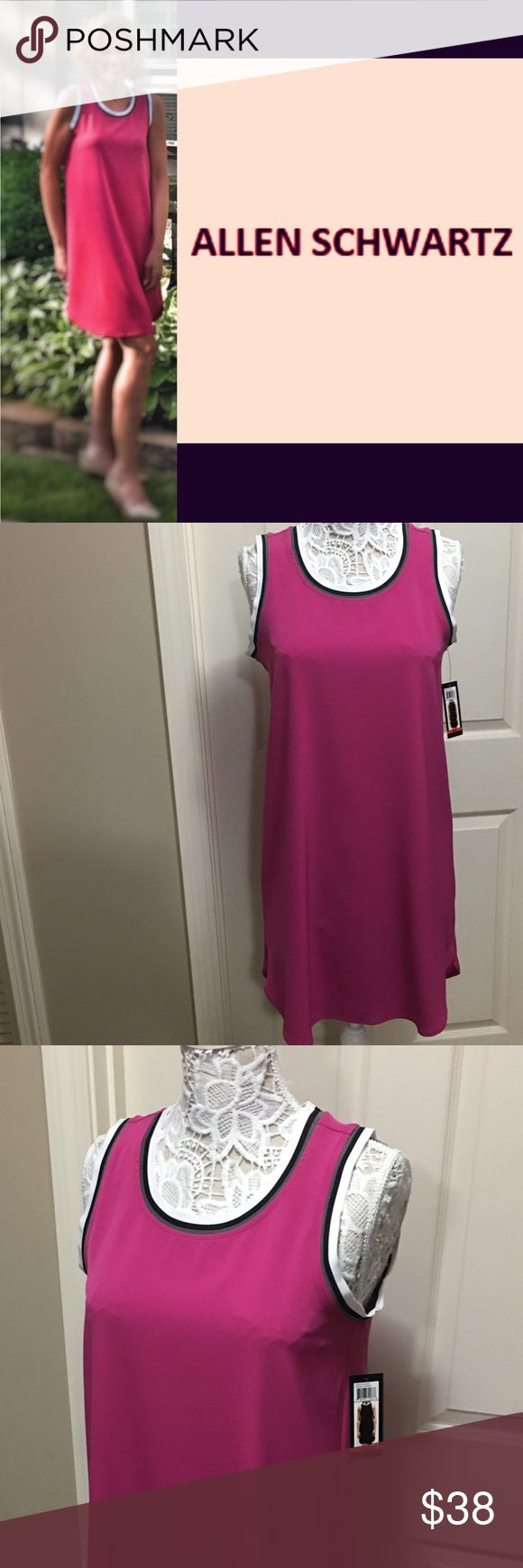 "SLEEVELESS SHIFT DRESS by ALLEN SCHWARTZ ABS This dress is SO perfect for Summer ☀️ So easy and functional. Pull over, sleeveless, flowing, longer in the back, just wonderful! 34""L in front 37""L in back. NWT Smoke free home. Bundle & save! ABS Allen Schwartz Dresses High Low"