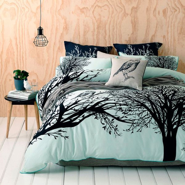 Add a touch of mystery and glamour to your bedroom with the Owl quilt cover set from Home Republic