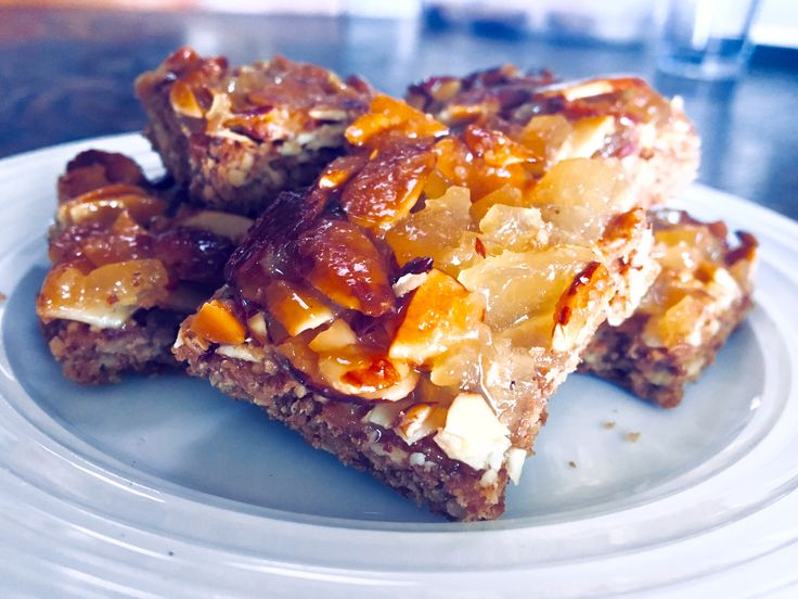 Ginger Almond Bars with Granola Crust