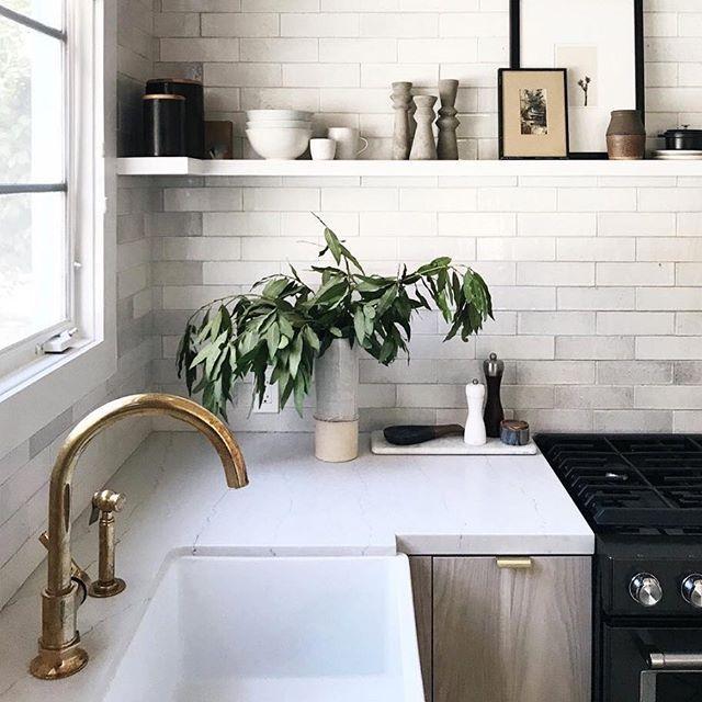 Henry One Hole Gooseneck Kitchen Faucet Metal Lever Handle And Spray Sage Kitchen Modern Kitchen Kitchen Design