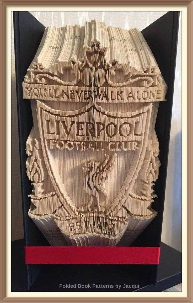 Liverpool FC Book Folding Pattern by JHBookFoldPatterns on Etsy