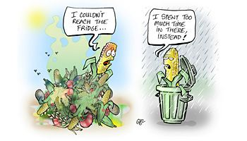 """wasting food is wasting the planet Titled """"help the planet: stop wasting food"""" mentions that wasting food also squanders the resources used to produce and handle food and in a cruel twist the waste of resources continues when food is taken to landfills."""
