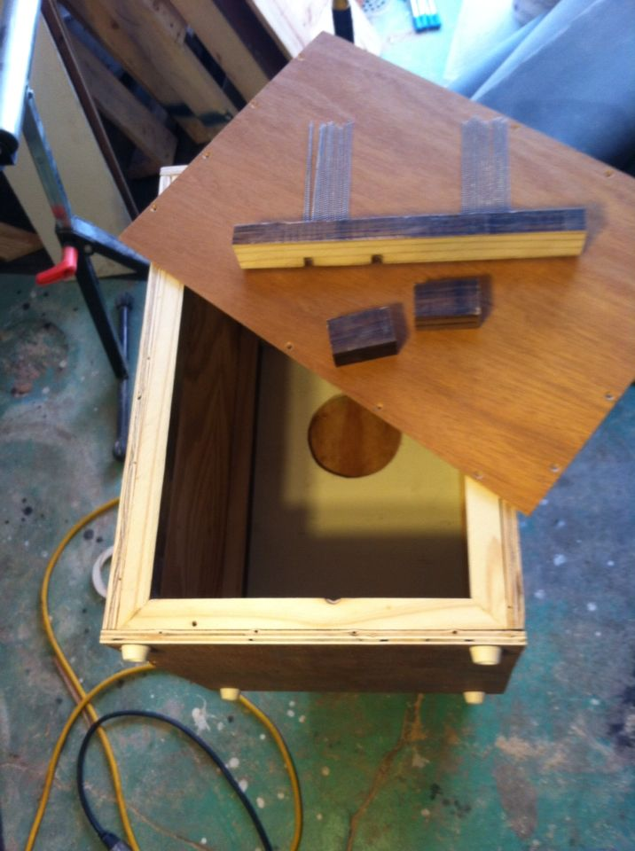 Second adjustable snare cajon, 13x18 with a 4.5 inch sound hole. Made from 1/2 inch plywood and 1/8 tapa(face) soon to be adorned with a unicorn for my daughter.
