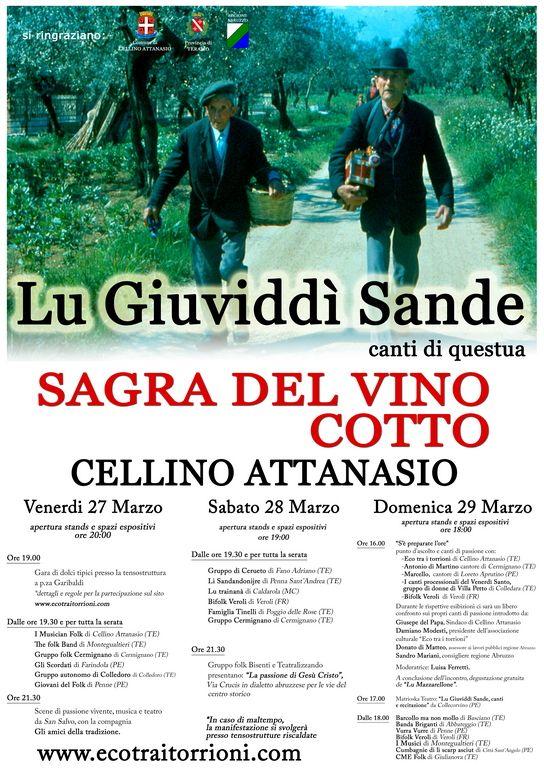 A Cellino Attanasio torna la Sagra del Vino Cotto - L'Abruzzo è servito | Quotidiano di ricette e notizie d'AbruzzoL'Abruzzo è servito | Quotidiano di ricette e notizie d'Abruzzo