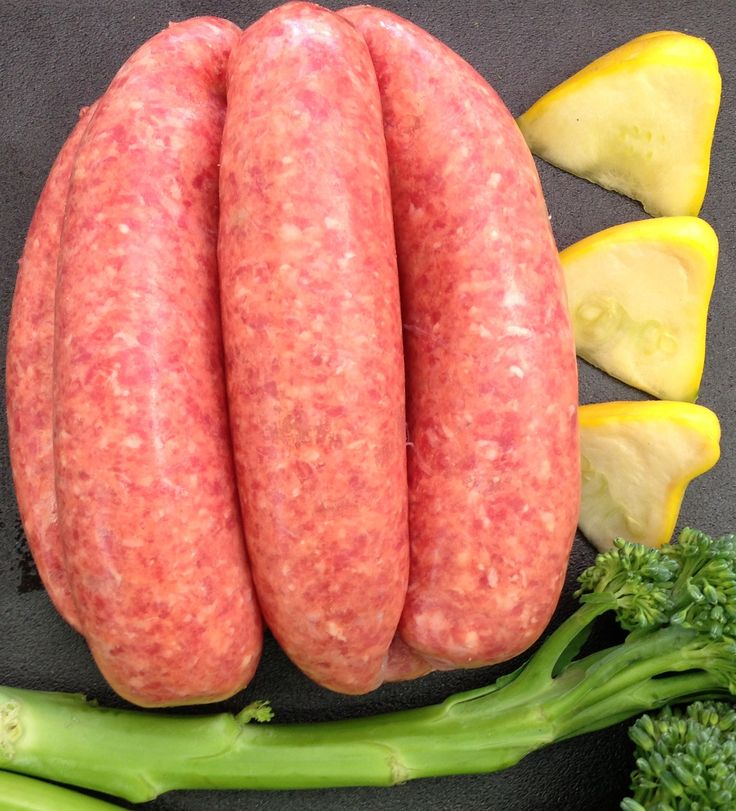 GLUTEN FREE THICK BEEF SAUSAGES - Always lean (but in a thicker version) and tasty. #adamsfamilymeats #sausages #thicksausages #beefsausages #sausages #glutenfree
