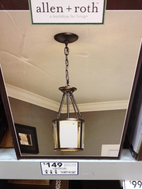 Foyer Lighting Lowes : Allen and roth foyer light lowe s lighting