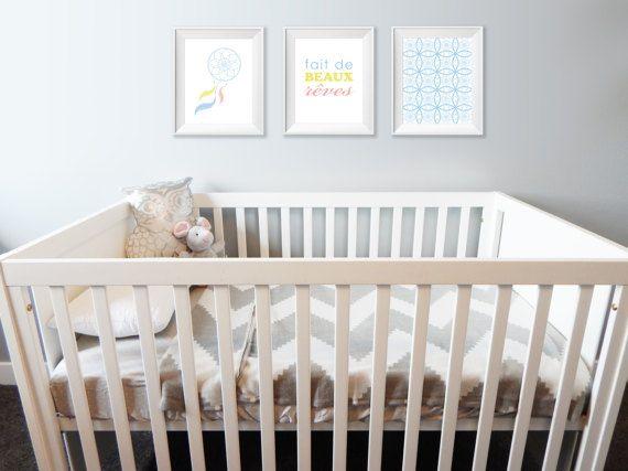 3 affiches 8X10 fait de beaux rêves  Affiche chambre par Akwadesign