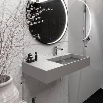 Trough Metal Rectangular Trough Bathroom Sink Wall Mounted Bathroom Sinks Bathroom Sink Concrete Bathroom