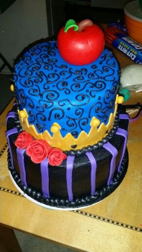 Custom made Buttercream and fondant accent Disney Maleficent Theme Birthday cake!