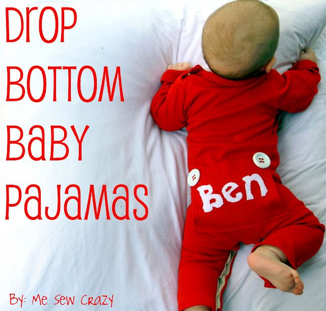 Drop-bottom pajamas- I will be making these for baby boy. So cute!