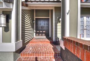 Традиционная передняя дверь с Тропой, наружные каменные полы, наружные кирпичные полы