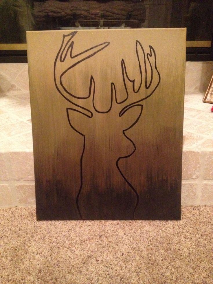 Camo Color Ombre Canvas I Made For The Boyfriend