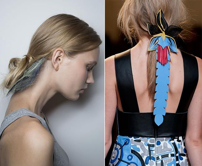 Spring/ Summer 2015 Hair Accessory Trends: Abstract and Innovative Hair Accessories  #hairaccessories #hairstyles #hair