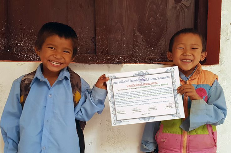Lovely photos here of the handover ceremony of the new classrooms built by our local partner REED-Nepal at Shree Kalikadevi Secondary School, Panchan, Solukhumbu.