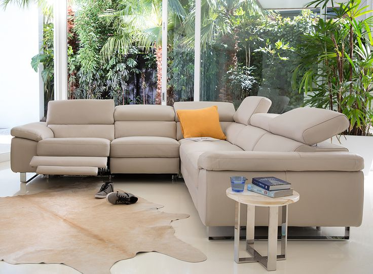 Relax and recline on the Dominic, a stylish yet comfortable sofa for your home featuring adjustable headrests and footrests as well as sleek stainless steel legs and comfy padded arm rests. Crafted with care, constructed with quality timbers and foams, the Dominic is sure to stand the test of time and comes with the Plush 10-Year Peace of Mind Warranty.
