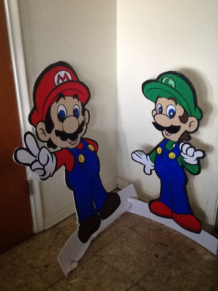 156 best mario and luigi images on pinterest birthdays luigi and super mario and luigi stand ups made these 3ft 4in for my grandsons birthday party filmwisefo