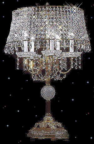Strass crystal table lamps @ Squitti's   .........  OMG........