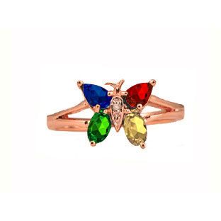 Personalized Diamond Birthstone Butterfly Ring In Rose Gold Gemologica.com offers a large selection of custom gemstone and birthstone rings available in Sterling Silver, 10K, 14K and 18K yellow, rose and white gold. Our gemstone rings are available in many styles, including engagement, antique style, promise, right hand, stackable, couples and mothers rings. Gemstone jewelry rings can be found on our website here: www.gemologica.com/gemstone-rings-c-27_49.html