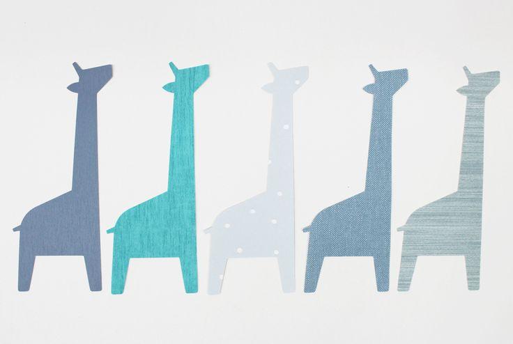 Tapetenaufkleber Giraffen, 10 Stück GIR 003 von melamei auf DaWanda.com