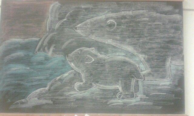 bordtekening Lars de kleine ijsbeer