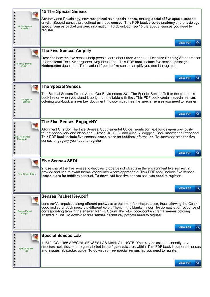 Preschool Worksheet Packet Pdf 5 Senses Kindergarten