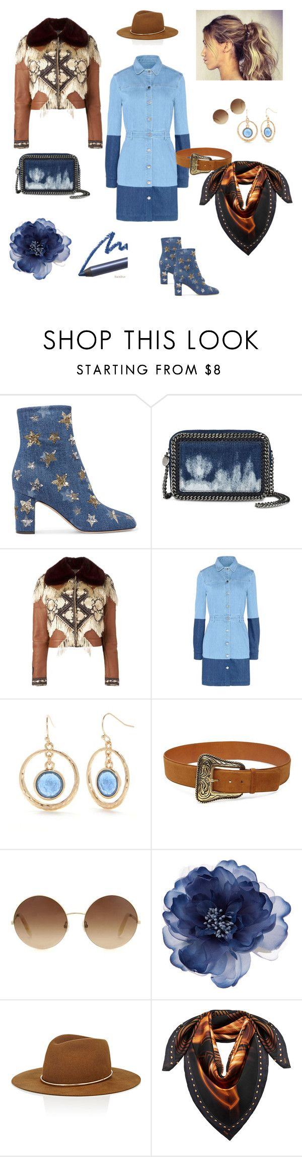 """Re-invented western"" by goldencat ❤ liked on Polyvore featuring Valentino, STELLA McCARTNEY, Alexander McQueen, New Directions, Yves Saint Laurent, Victoria Beckham, Accessorize, Janessa Leone and MCM"