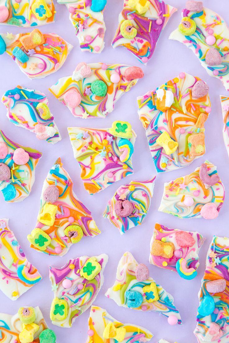 Rainbow Lucky Charms Chocolate Bark | Aww Sam
