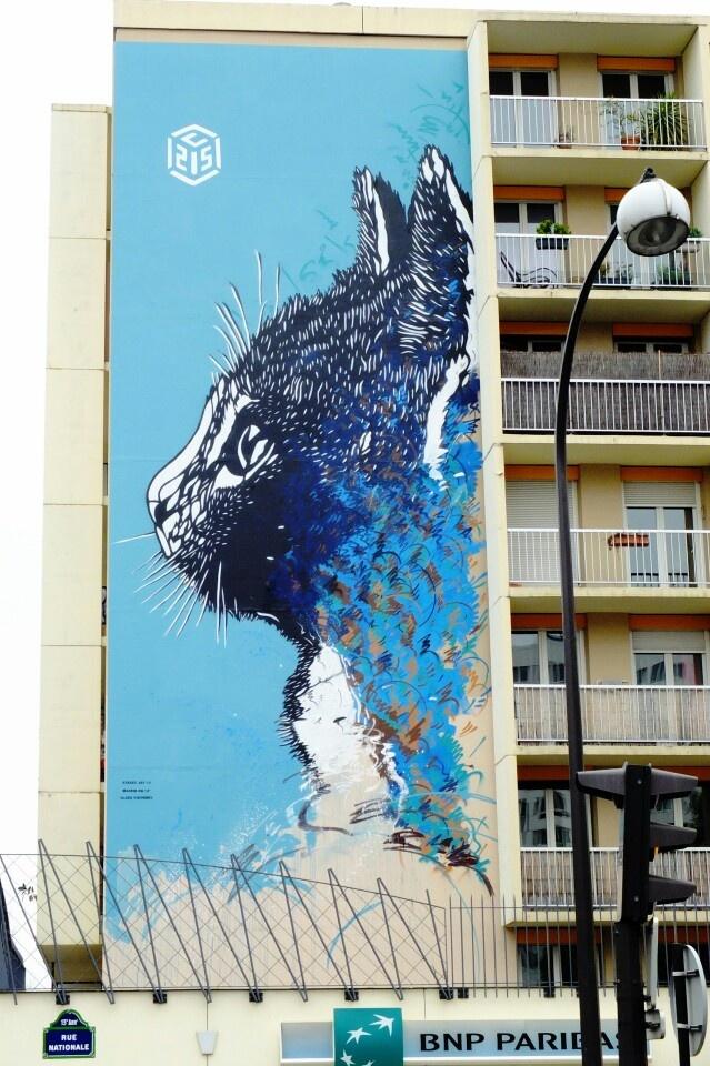 C215 - street art - Paris 13 - boulevard Vincent Auriol