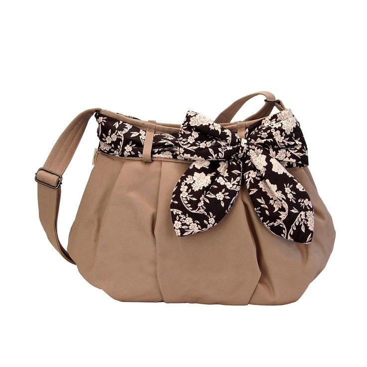 Tmavě béžová dámská kabelka crossbody Naraya s mašlí nncnc430cv5cp