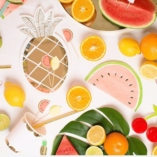 Lots of Summer Party festivity poppin up in the shop!!☀️ www.shopthecoconutroom.com . . . . . .  #shopthecoconutroom #shop #summerparty #partysupplies #merimeri #fruit #fruity #party #pineappleplates #goldstraws #watermelonnapkins #partycups #pineapple #watermelon #gold #tropicalvibes #junglevibes #islandvibes #independentbrand #independentboutique #montclair #montclairnj #northjersey #newjersey #femalefounder #giftshop #thecoconutroom #happinessliveshere #festivity #fruitparty