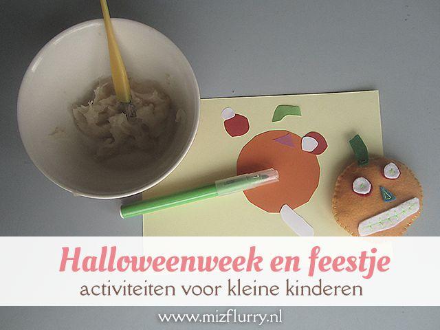Leuk met peuters en kleuters voor Halloween: knutselen, verkleden en een feestje. #blogfeestje #herfst www.mizflurry.nl