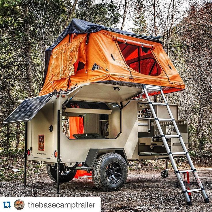 OVERLAND BOUND — Pretty sweet mobile lodging setup! #TepuiTents...