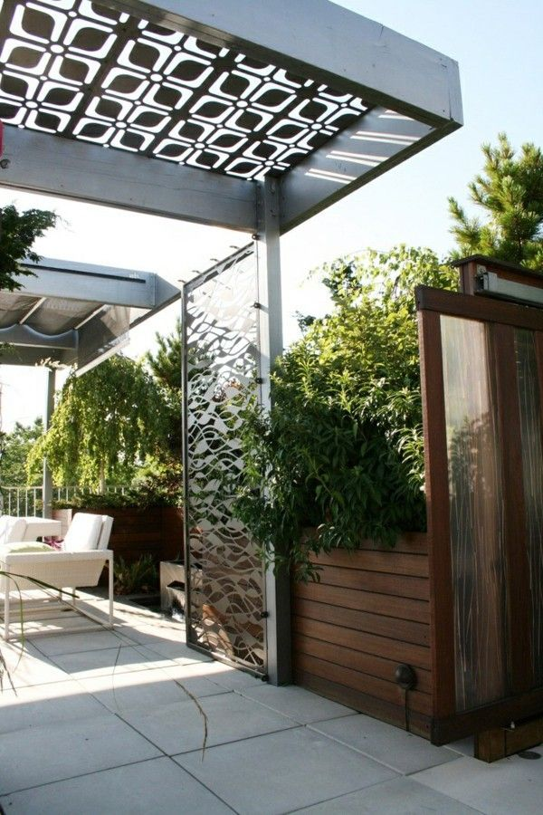 ber ideen zu pergola metall auf pinterest sonnenschutz markisen sichtschutz metall. Black Bedroom Furniture Sets. Home Design Ideas