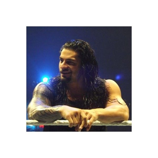 Shirtless Seth Rollins and Roman Reigns Wrasslin' ❤ liked on Polyvore featuring home, home decor, wwe, pictures, roman reigns, wwe stars and star home decor