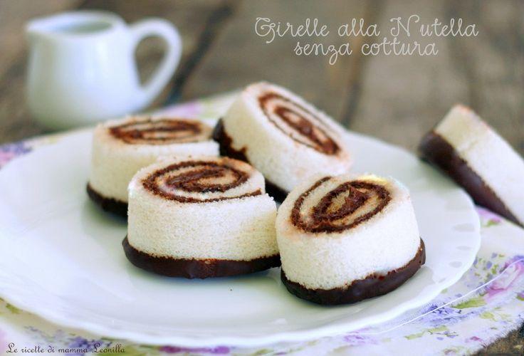 GIRELLE+ALLA+NUTELLA+SENZA+COTTURA+con+pane+bianco+