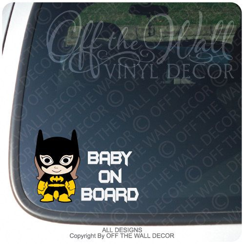 Hey, I found this really awesome Etsy listing at https://www.etsy.com/listing/175191375/baby-batgirl-baby-on-board-vinyl-sticker