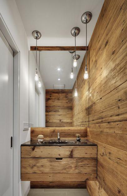 Surowe drewno, czyli wstęp do łazienki industrialnej :)