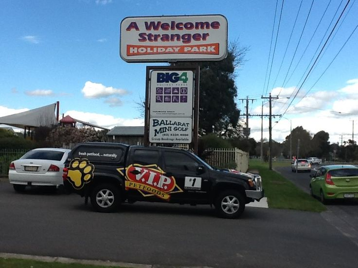 We were pleased to have greeted the V.I.P Pet Foods team a with a BIG4 Ballarat Welcome Stranger welcome. #vippetfoods #big4ballaratwelcomestranger