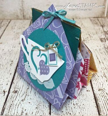 DIY 6 pocket treat holder - scrapbook // Tea vagy csoki tasakok papírból - kreatív ajándék ötlet // Mindy - craft tutorial collection // #crafts #DIY #craftTutorial #tutorial